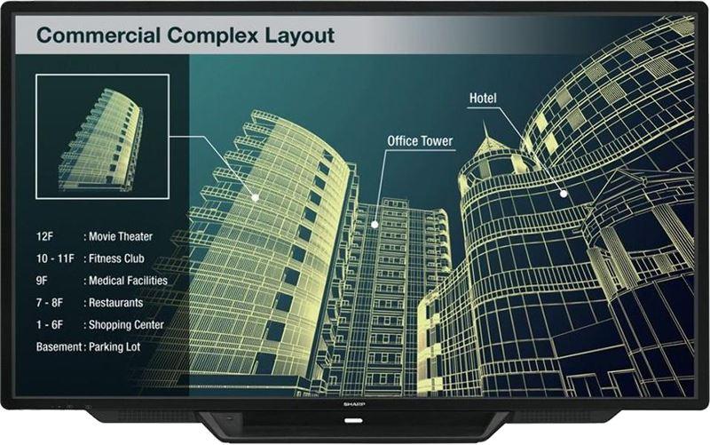 Monitor Sharp multitactil capacitivo
